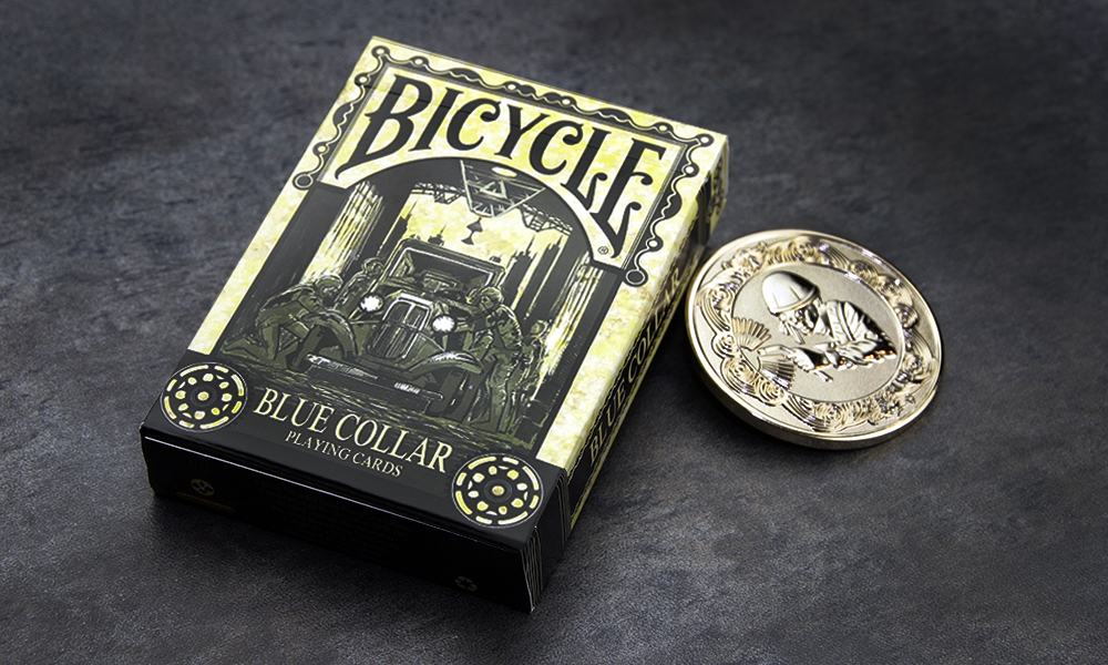 Bicycle Blue Collar Playing Cards (Includes One Shinny Gold Blue Collar Coin)
