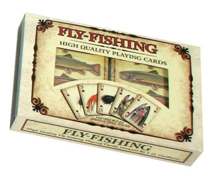 2pk Trout/Fly Playing Cards