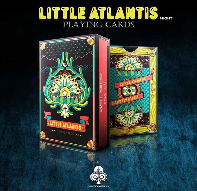 Little Atlantis (Night) Playing Cards