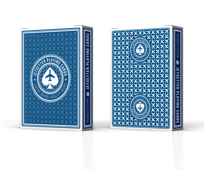 Jetsetter Playing Cards: Premier Edition in Altitude Blue
