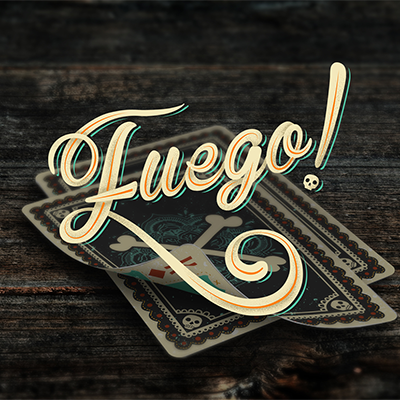 Fuego! - Day of the Dead Inspired (Sol Edition) Playing Cards
