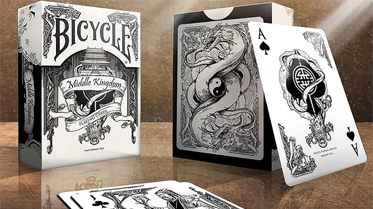 Bicycle Middle Kingdom (White)  Playing Cards Printed by US Playing Card Co