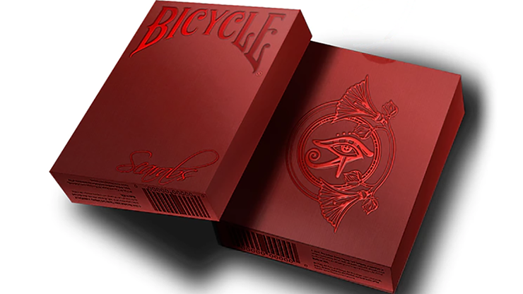Bicycle Scarab Ruby (Limited Edition) Playing Cards by Crooked Kings