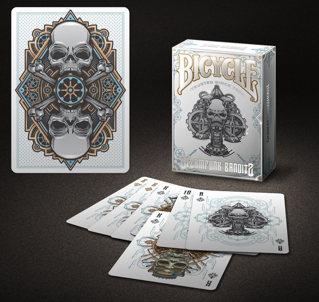 Bicycle Limited Steampunk Bandits (White) Playing Cards