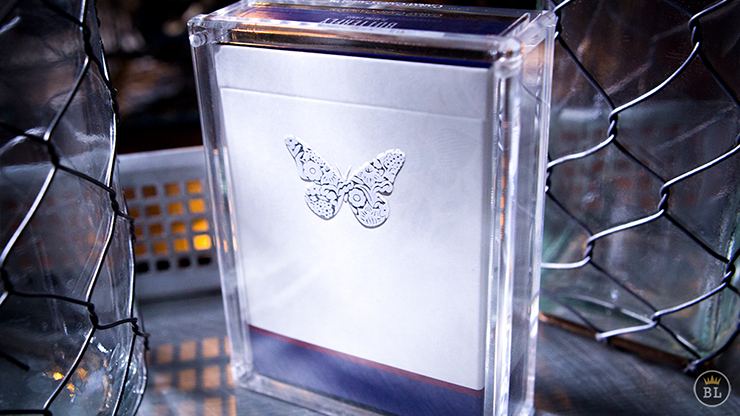 Butterfly Playing Cards Limited Collector's Edition Blue (Numbered and Signed in Butterfly Carat Card Cases?)