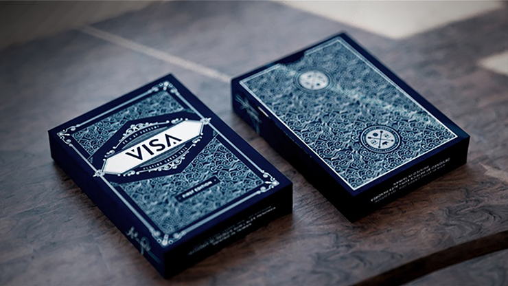 Visa Blue Playing Cards by Patrick Kun and Alex Pandrea