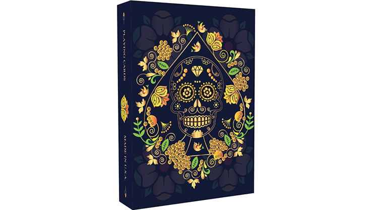 Calaveras de Azucar Blue Edition Playing Cards Printed by USPCC