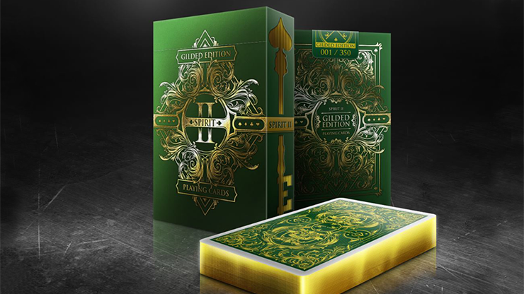 Spirit II Green (Gilded Edition) Playing Cards