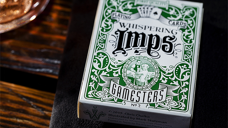 Exclusive Edition Gamesters Playing Cards (Green) by Whispering Imps