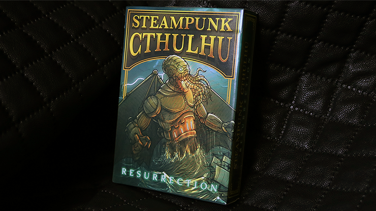 Bicycle Steampunk Cthulhu Resurrection (Red) Deck by Nat Iwata