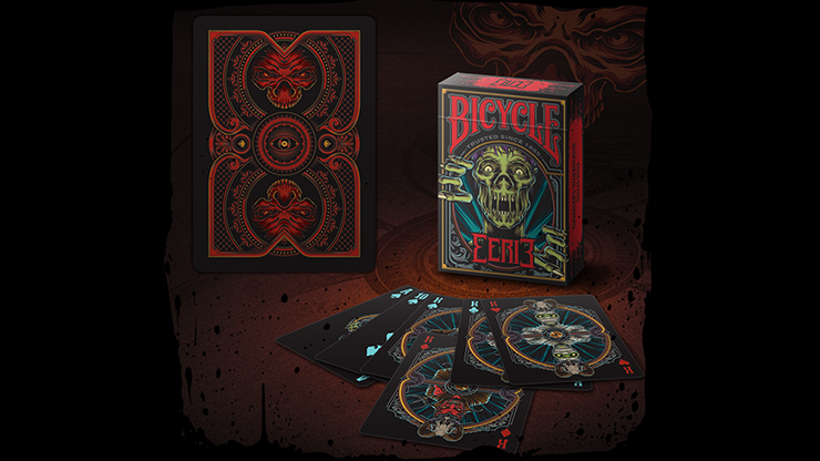 Bicycle Eerie (Red) Playing Cards
