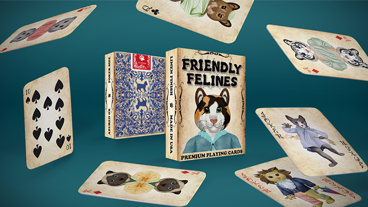Friendly Feline Playing Cards