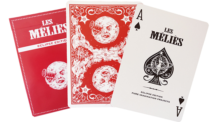Les Melies Red Eclipse Playing Cards by Pure Imagination Projects