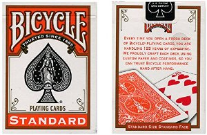 Cards Bicycle Orange Back USPCC