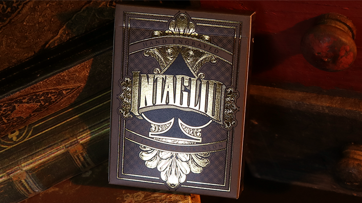 Intaglio Black Playing Cards by Jackson Robinson