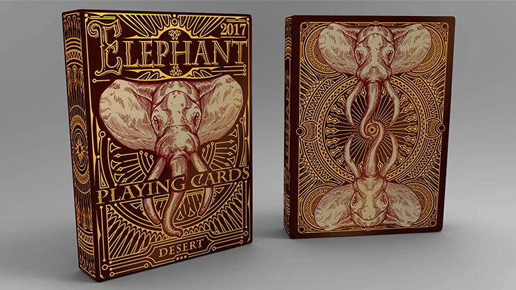 Elephant Playing Cards (Desert)