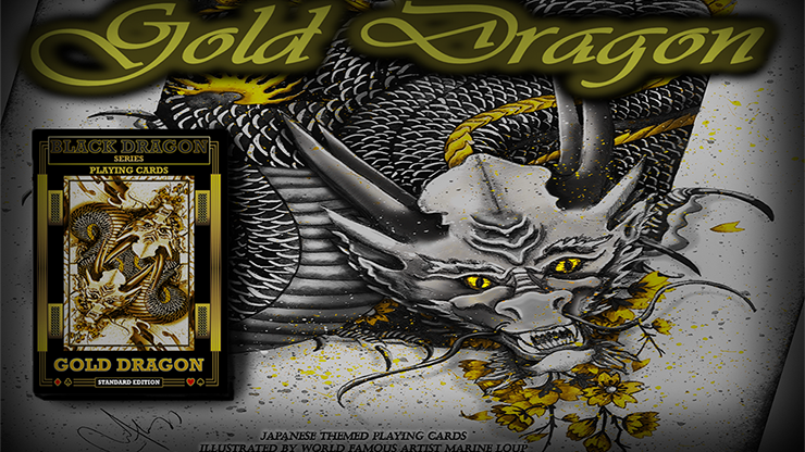 Gold Dragon (Standard Edition) Playing Cards by Craig Maidment