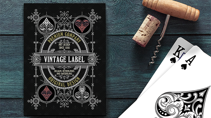 Vintage Label Playing Cards (Premier Edition Black) by Craig Maidment