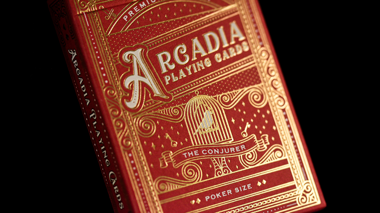 The Conjurer Playing Cards (Red) by Arcadia Playing Cards