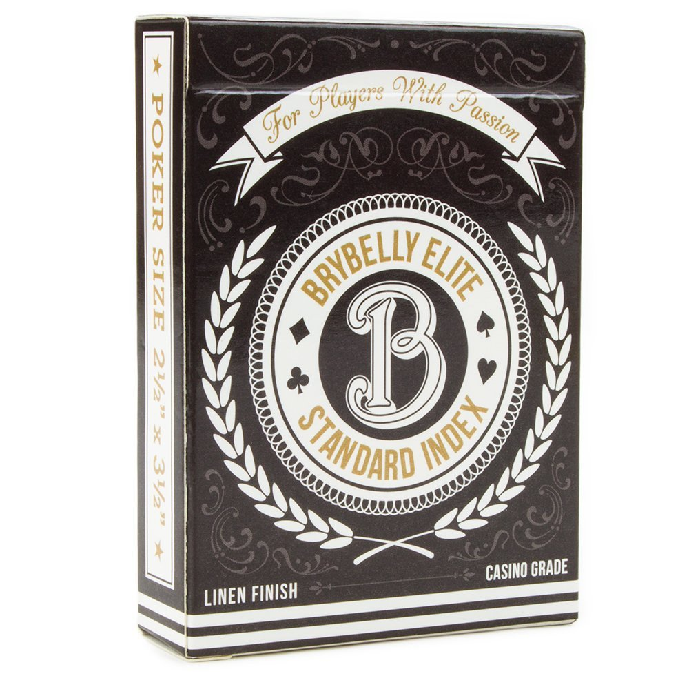 Brybelly Elite Medusa Back Casino- (Black) Playing Cards