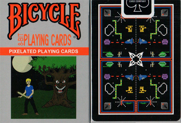 Bicycle 8-bit Playing Cards - Black