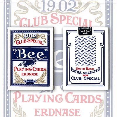Erdnase 1902 Bee Playing Cards - Blue Smith No. 2 Back (Cambric Finish) - Limited Edition by Conjuring Arts