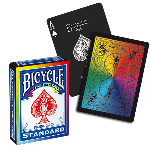 Bicycle Rainbow Playing Cards - Black