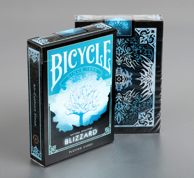 "Bicycle Natural Disasters ""Blizzard"" Playing Cards"