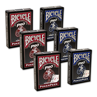 Cards Bicycle Pro Poker Peek (Red)