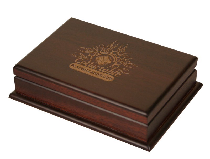 Collectable Playing Cards Wooden Playing Card Box