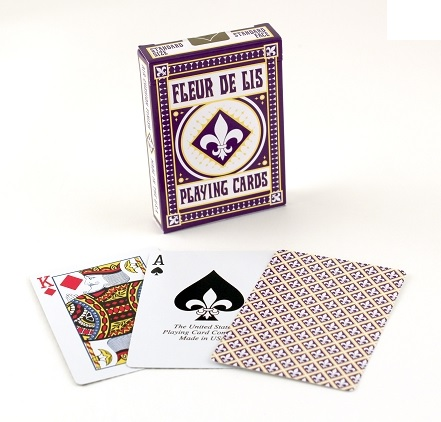Bicycle Fleur De Lis Playing Cards Purple