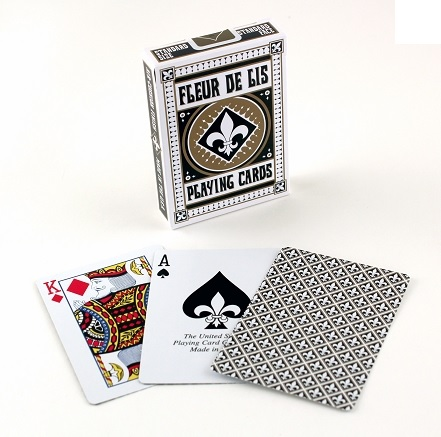 Bicycle Fleur De Lis Playing Cards White