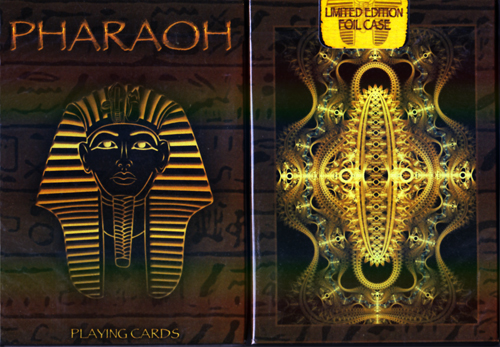 Pharaoh Playing Cards Limited Edition Foil Case By Collectable Playing Cards - (Out Of Print)