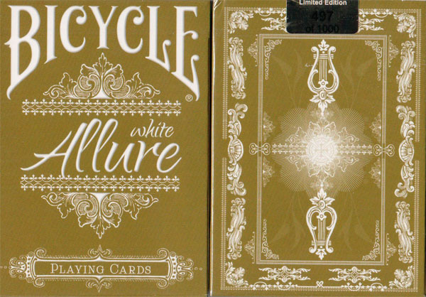 Bicycle Allure Gold Tuck Box - White Playing Cards Numbered - Limited Edtion