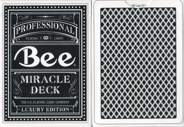 Magic 8 Anniversary USPCC Deck (Black) (limited edition) - (Out Of Print)