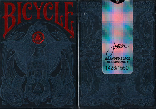 Bicycle Branded Reserve Note, Black Edition Playing Cards by Jackson Robinson - (Out Of Print)