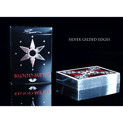 Limited Edition Blades Blood Metal Playing Cards by Handlordz, LLC - (Out Of Print)