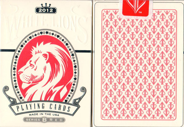 Red White Lions Series B Playing Cards