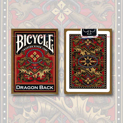 Bicycle Dragon Back Cards (Gold) by USPCC