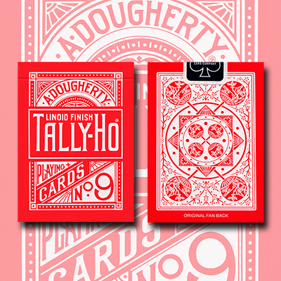 Tally Ho Reverse Fan back (Red) Limited Ed. by  Aloy Studios / USPCC