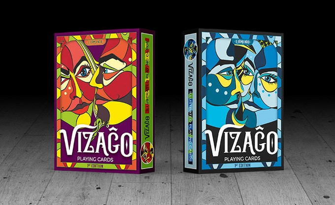 VIZAGO (Red) Playing Cards