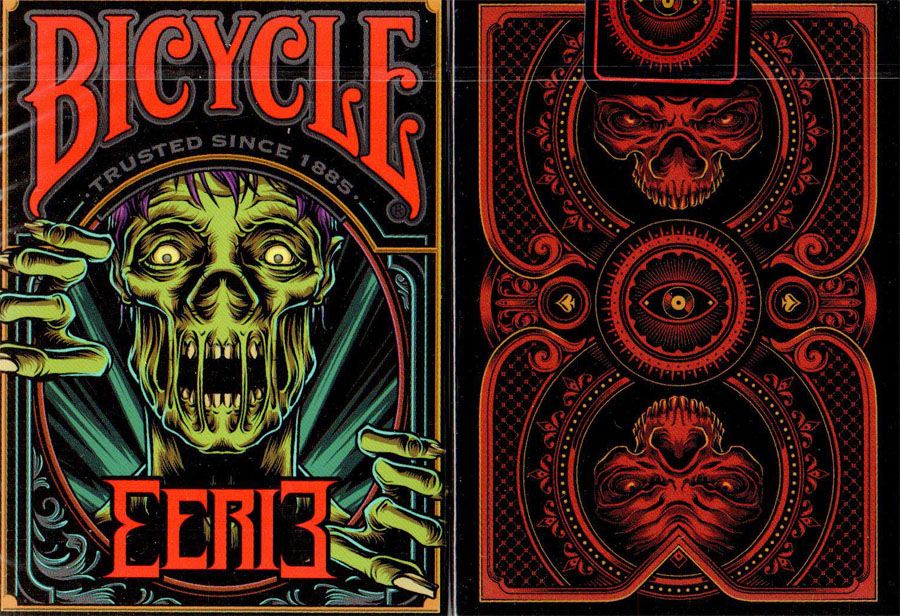 Bicycle Eerie Playing Cards (Red)