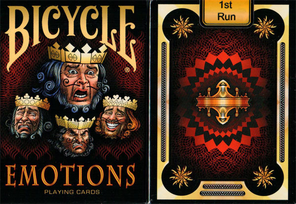 Bicycle Emotions Playing Cards (1st Run) - (Out of Print) By Collectable Playing Cards