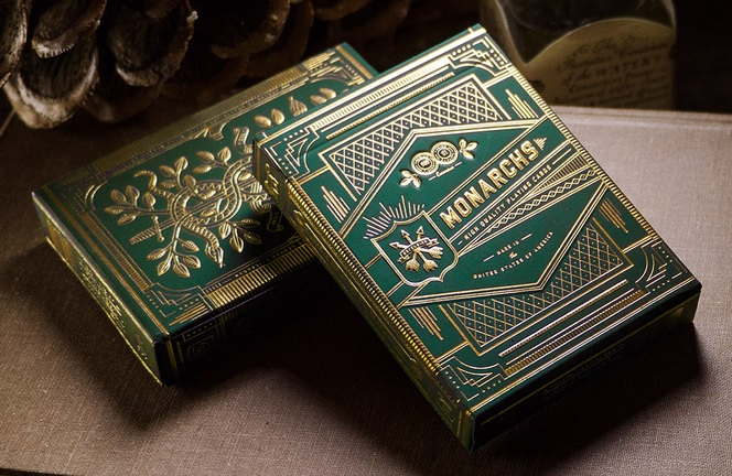 Monarchs Playing Cards (Green) by Theory 11