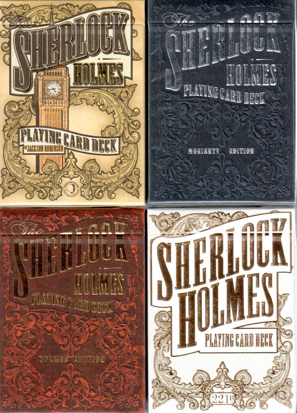 The Complete 4 Deck Sherlock Holmes Playing Card Series