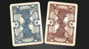 Bicycle Civil War Playing Cards by Jackson Robinson (Confederate Red)