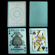Tally Ho Reverse Circle back (Mint Blue) Limited Ed. by Aloy Studios / USPCC