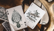 Antler Playing Cards (Maroon) by Dan and Dave