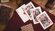 Vintage Plaid (Arizona Red) Playing Cards by Dan and Dave