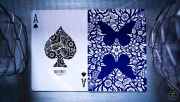 Butterfly Playing Cards Marked (Blue) by Ondrej Psenicka